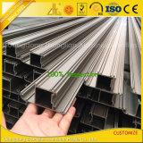 Soem-Puder beschichteter anodisierter Aluminiumstrangpresßling für Glaswand