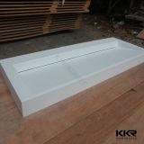 Kkr ha personalizzato il dispersore di pietra acrilico di superficie solido bianco della stanza da bagno (180115)