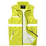 عال انعكاسيّة شريط أمان لباس صفراء [ووركينغ كلوثينغ] أمان صدرة