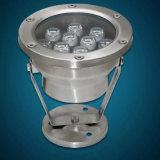 IP68 éclairage LED imperméable à l'eau extérieur de la qualité légère sous-marine 9W 12W