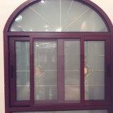 Gebogenes Oberseite gewölbtes Aluminiumrahmen-schiebendes Glashandelsfenster