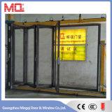 Porte vitrée vitrée en aluminium pour la construction de projets