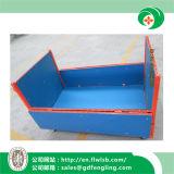Jaula plegable del acoplamiento de alambre del metal para el almacenaje del almacén