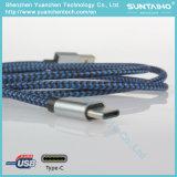 Trançado de nylon de cabo do tipo C