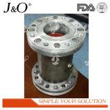 Válvula de Pinch de aço industrial de Pnumatic Satinless com flange