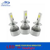 Scheinwerfer H7 H4 9005 9006 des 12V/24V Universal72w 7600lm Selbstlampe PFEILER Kopf-Licht-C6 LED
