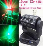 16X25W RGBW 4in1 LED Träger-beweglicher Kopf DJ halten Stadiums-Licht ab