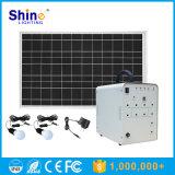 sistema di illuminazione solare 50W per la lampadina domestica di stato dell'aria della TV
