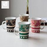 Tasse en céramique avec l'étiquette/la tasse de /300ml forme d'Evase