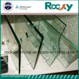 Vidro Tempered desobstruído rochoso da fábrica 10mm de China para o vidro do edifício