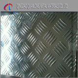 1050 1060 1100 3003 5052 un piatto Checkered di alluminio delle 5 barre