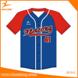 Costume de Healong algum basebol Jersey do softball das camisas do basebol da cor