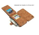 새로운 디자인 카드 구멍을%s 가진 전화 지갑 가죽 상자 플러스 Samsung S5 S7/S7를 위한 이동할 수 있는 가죽 덮개 케이스