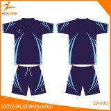 Healong Polyester-Farben-Sublimation-Fußball-Referent-Hemden 100%
