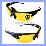 Nachtsicht-Sport-Sonnenbrille-Schleife-Fahrrad, das gelbes Objektiv-UVglas-Schutzbrillen reitet