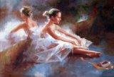 Два танцующих девочек картины маслом на холсте для интерьера
