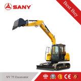 Sany Sy75 che scava escavatore idraulico del macchinario di costruzione del cingolo il piccolo