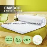 Colchón de espuma de memoria con cubierta de bambú con cremallera Colchón de colchón fresco