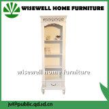 Gabinete de armazenamento branco da madeira de gabinete do indicador da cor