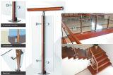 ステアケースの柵のための屋内ステンレス鋼の木製のポスト