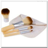 Brosses à maquillage 4PCS Brosses en mousse de bambou naturelles