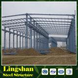 Construction en acier d'atelier d'usine de coût bas/usine structure métallique de modèle