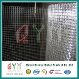 L'acier inoxydable a soudé le roulis soudé par PVC vert de treillis métallique de Rolls de treillis métallique