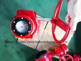 Revestimento de EPDM Anti-Static extremidade ranhurada Válvula Borboleta Com Engrenagem