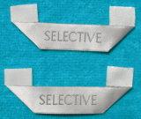 Letra Creme-Colorida Garment Acessórios Vestuário Rótula Tecida (LC-2014)