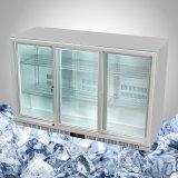 Arrière bar réfrigérateur réfrigération porte coulissante