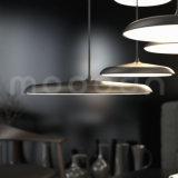 Moderner UFO-Form-Kupfer-Entwurfs-hängendes Licht mit glattem Metallfarbton für Wohnzimmer
