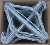 Aluminium anodisé épais Etats-Unis de cintre 6 de paquet de vélo bleu de Buell en métal de vêtement