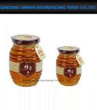 Стеклянная круглая бутылка нашивки для меда, специи, студня