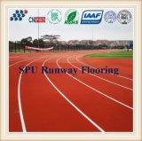 Alta calidad a prueba de agua atlética de goma Pista de atletismo pista de caucho /