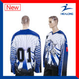 Healong中国の販売のための卸し売り服装ギヤ昇華人のアイスホッケーのジャージ