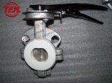 La mitad Bore CF8 forrado de PTFE Válvula de mariposa Wafer Tipo
