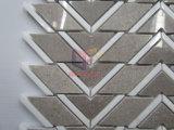 Telha geométrica do mosaico do mármore da forma na cor cinzenta (CFS1177)