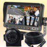 Sistema de visión trasera con soporte de monitor cuádruple 4 cámaras de entrada