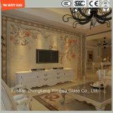 ホテルの壁のための3-19mmの切り分けるガラス、紙やすりで磨くガラス、パターン平らなか曲がった緩和された安全構築ガラスか床かSGCC/Ce&CCC&ISOの区分