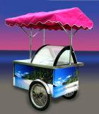 Crême de chariot à Gelato/glacée transporte en charrette des congélateurs (le CE)