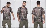 Chemises rondes de circuit de collet de vente de sublimation d'été chaud d'impression User-Résistant au T-shirt mince d'ajustement sec