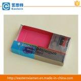 Caixa de papel do armazenamento cosmético com indicador do PVC