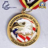 Maratón Medaillen de la fuente 3D con el final antiguo, medalla del deporte de Cusotmized