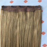 Remyのブラジルのインドの人間の毛髪を搭載するクリップが付いているよこ糸のフリップ
