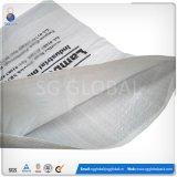 Impressão personalizada 25kg Saco de arroz de tecidos de PP branco