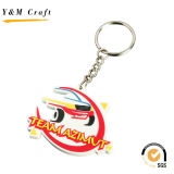 Letter Design Silicone Rubber Key Chain para venda Ym1125