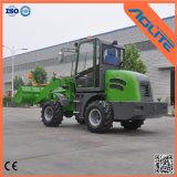 中国の小さい車輪のローダー、1-2トンのフロント・エンドローダー、セリウムは連結されたローダーを承認した