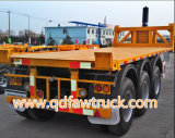 20FT container flatbed semi trailer for sale