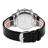 6821めっきされる多機能の腕時計の黒IP