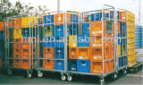 Metall Warehouse Wire Cages mit Wheels